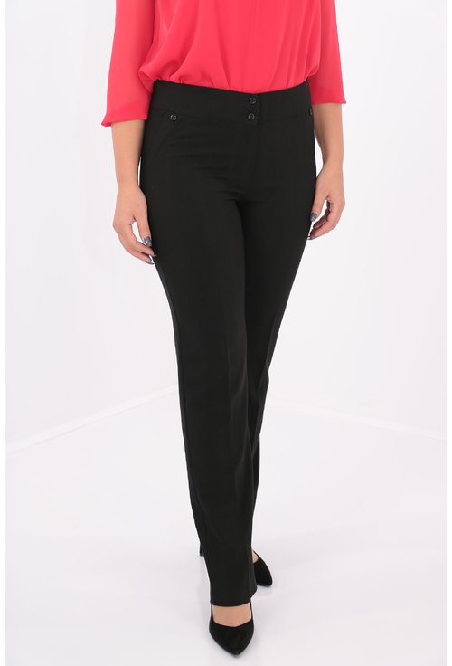 Pantaloni clasici din stofa neagra