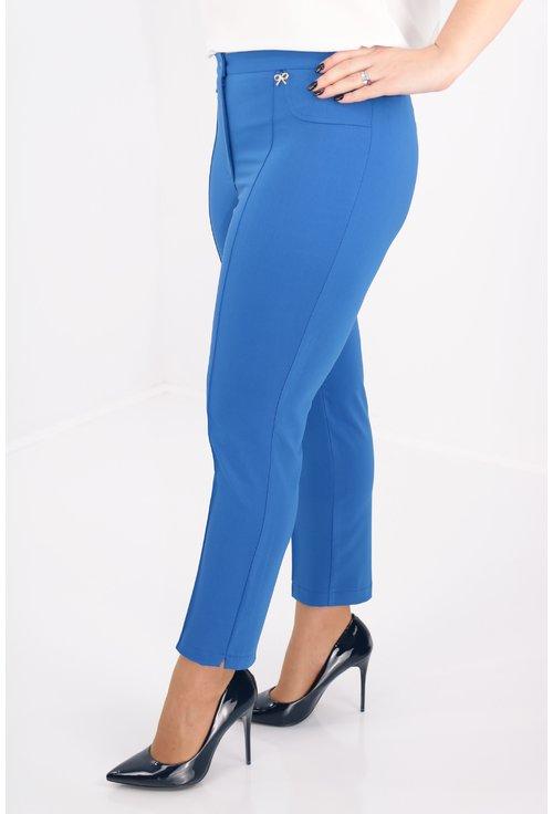 Pantaloni conici albastri