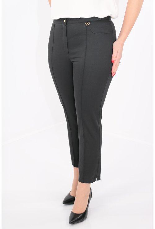 Pantaloni conici negri