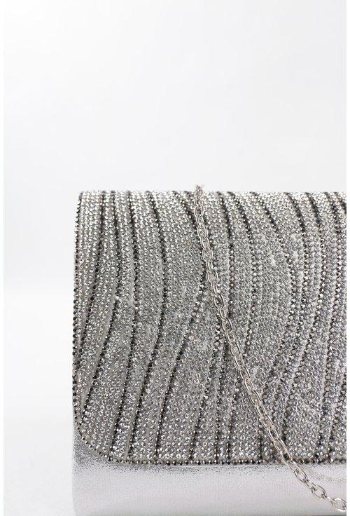 Plic argintiu din material textil sidefat