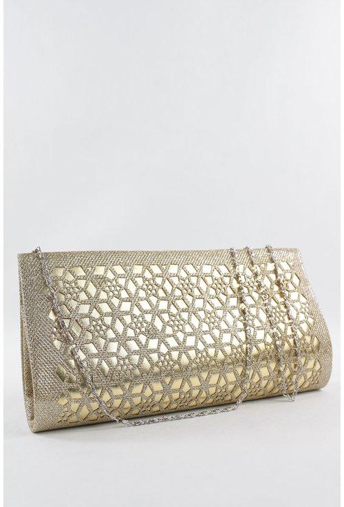 Plic auriu cu insertii de piele ecologica lucioasa