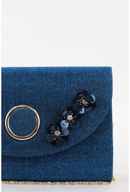 Plic elegant albastru cu flori