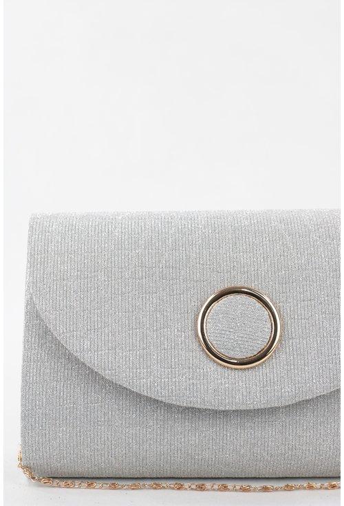 Plic elegant argintiu cu sclipici