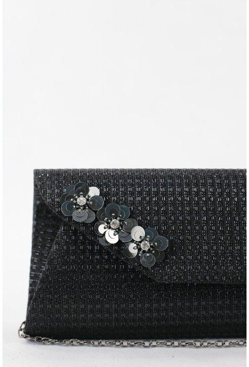 Plic negru cu flori