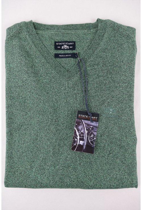 Pulover verde pepit cu anchior