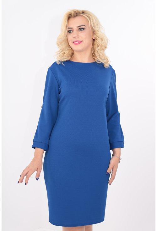 Rochie albastra cu decupaj pe maneci