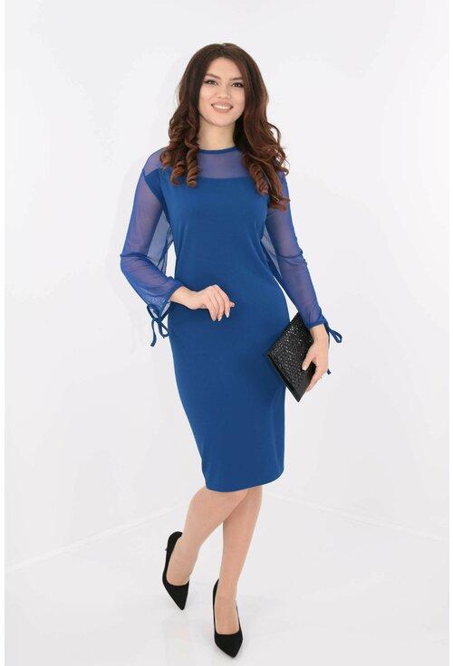 Rochie albastra cu tull elastic
