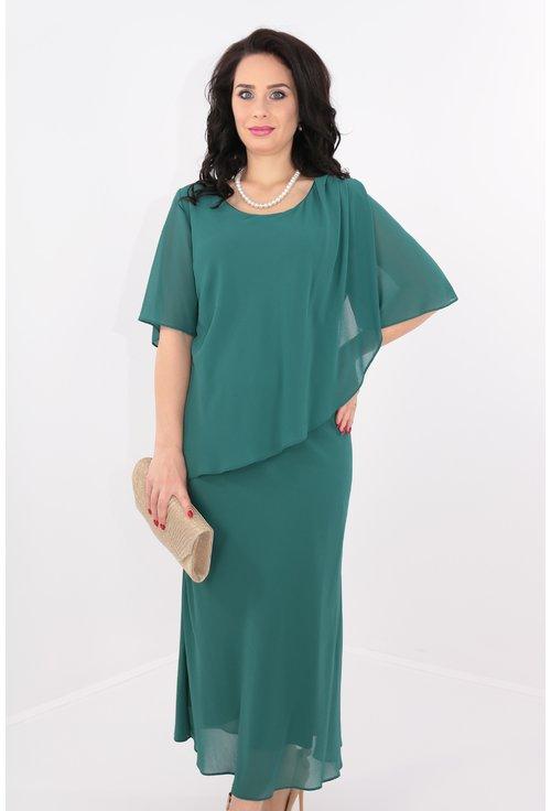 Rochie din voal verde cu perle