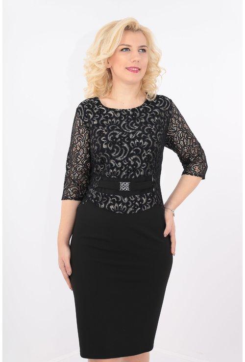 Rochie eleganta cu dantela neagra
