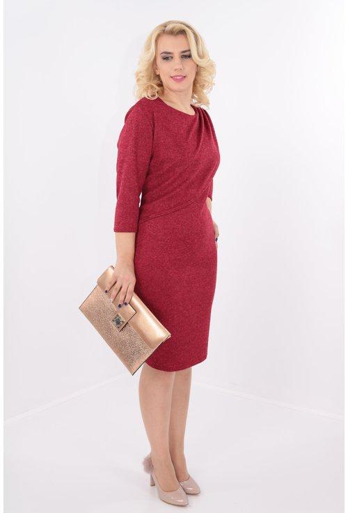 Rochie eleganta rosie cu drapaj