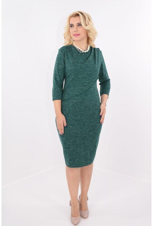 Rochie eleganta verde cu drapaj