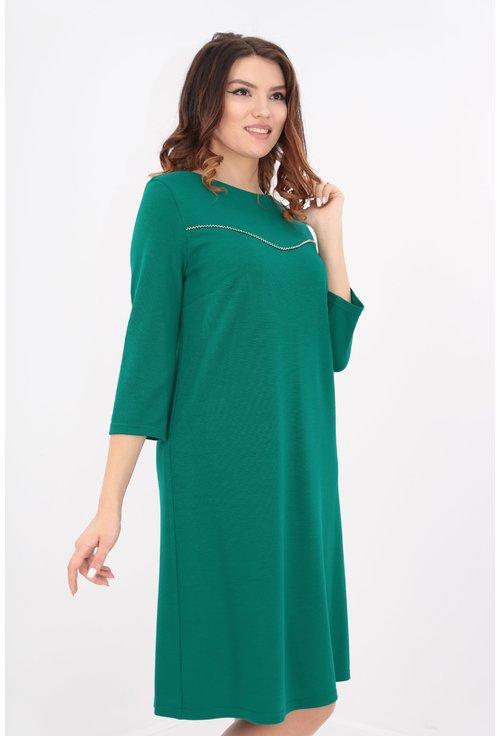 Rochie lejera din jerse verde