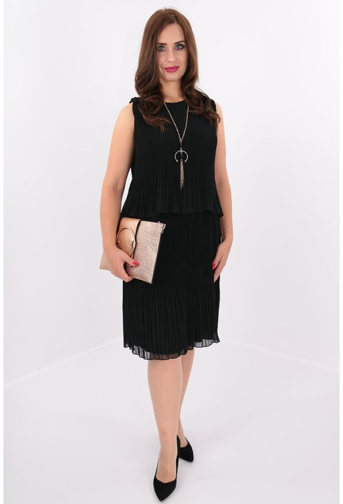 Rochie plisata neagra