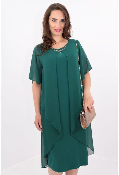 Rochie verde din voal
