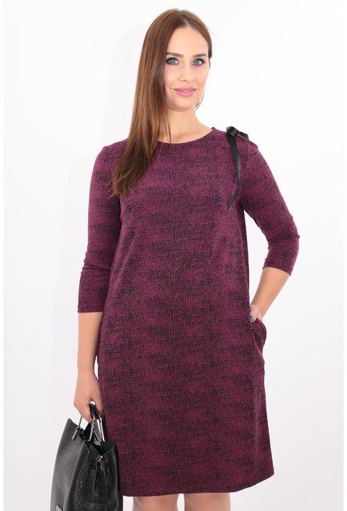 Rochie violet cu umar decupat