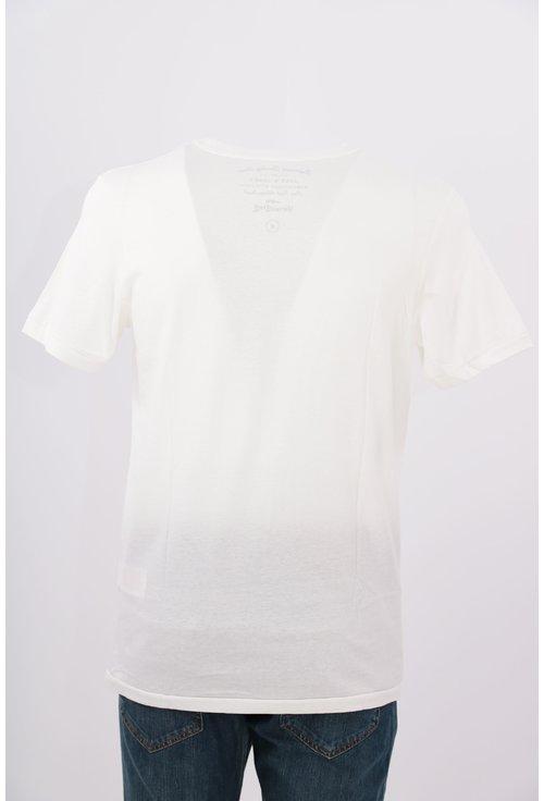 Tricou Jack&Jones alb cu print foto