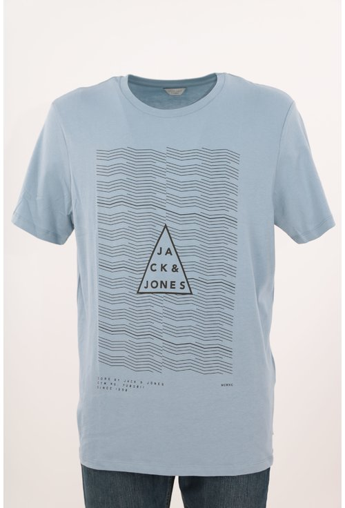 Tricou Jack&Jones bleu cu print grafic
