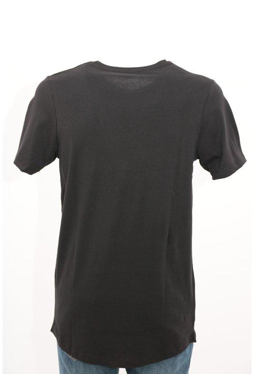 Tricou Jack&Jones negru cu imprimeu text