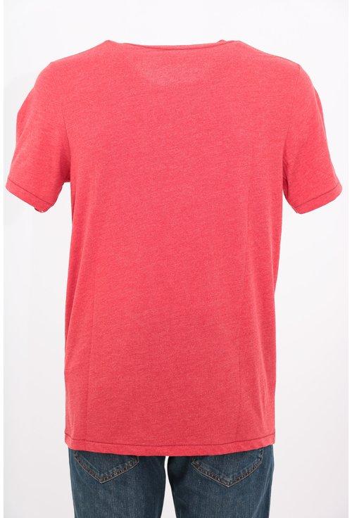Tricou Jack&Jones rosu cu imprimeu text