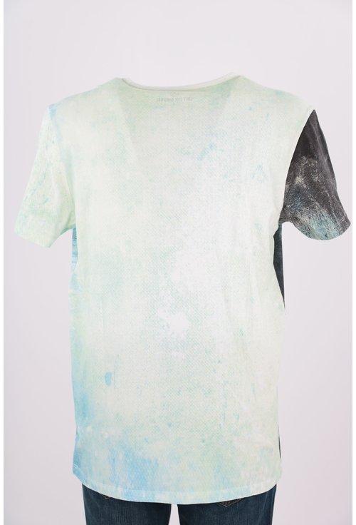 Tricou Loft bleu in degrade