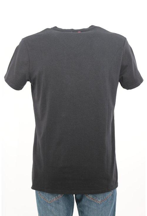 Tricou Pepe Jeans negru cu imprimeu text