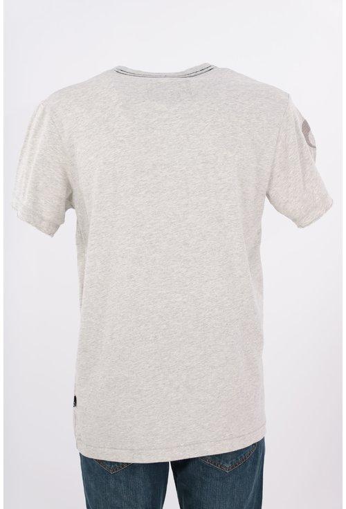 Tricou Q1905 gri cu imprimeu text
