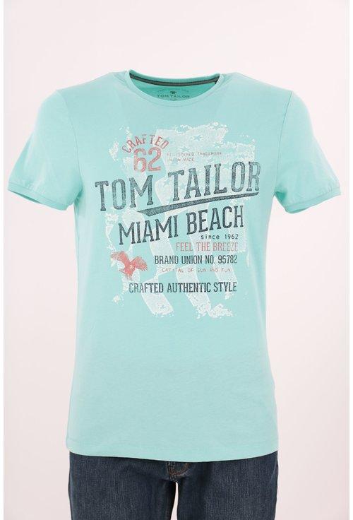 Tricou Tom Tailor vernil cu imprimeu text