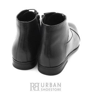 Ghete casual din piele naturala pentru barbati - 873 negru