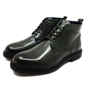 Ghete din piele naturala pentru barbati Leofex - 983  Verde Box
