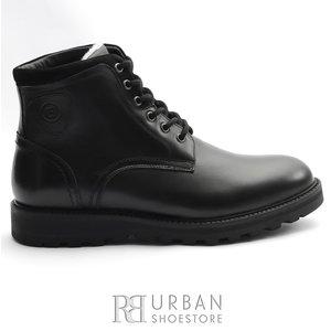 Ghete din piele naturala pentru barbati Leofex - 991 Negru