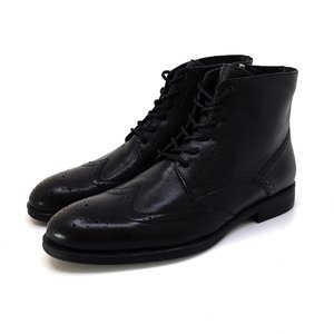 Ghete elegante barbati din piele naturala Leofex - 974 negru