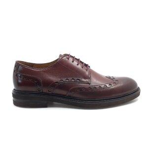 Pantofi barbati  casual din piele naturala Leofex - 995 visiniu box