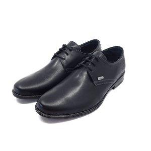 Pantofi casual barbati din piele naturala, Leofex  - 578 negru box
