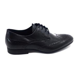 Pantofi barbati eleganti din piele naturala Leofex- 538-2 Negru Box