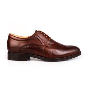Pantofi barbati eleganti din piele naturala Leofex - 930-1 Cognac Box