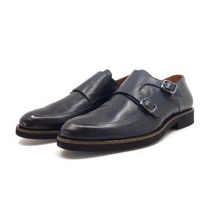 Pantofi casual barbati, cu catarame din piele naturala, Leofex - 576 blue box