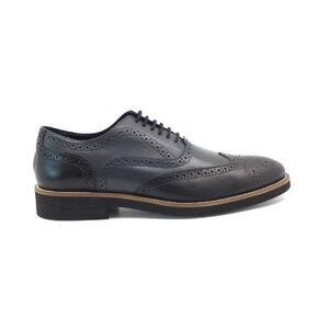 Pantofi casual barbati din piele naturala, Leofex - 536 gri + negru box