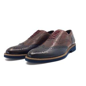 Pantofi casual barbati din piele naturala, Leofex - 536 visiniu blue box