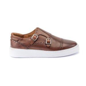 Pantofi casual barbati din piele naturala,Leofex - 600 Cognac box
