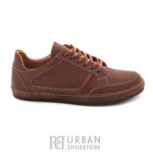 Pantofi casual barbati din piele naturala, Leofex - 854 cognac box