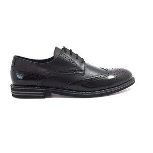 Pantofi casual barbati din piele naturala, Leofex - 979 negru box+lac