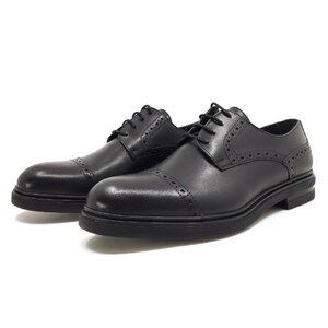Pantofi casual barbati din piele naturala, Leofex - Mostra Filip negru box