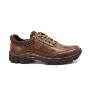 Pantofi casual barbati din piele naturala,Leofex - Mostra Luca maro box