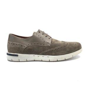 Pantofi casual barbati din piele naturala Leofex - Mostra Tudor gri velur