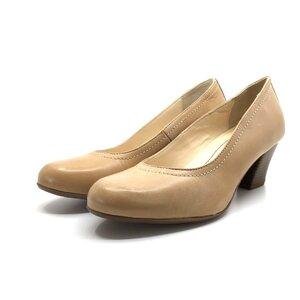 Pantofi casual cu toc dama din piele naturala,Leofex-422 Taupe Box