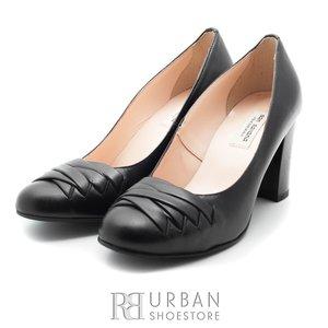 Pantofi casual dama din piele naturala - 797-10 negru