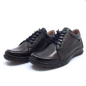 Pantofi casual dama din piele naturala, Leofex - 092-1 Negru croco box