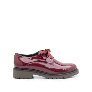 Pantofi casual dama din piele naturala, Leofex - 286 Visiniu lac