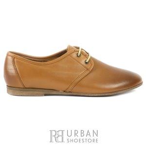 Pantofi casual dama din piele naturala,Leofex - 316 camel