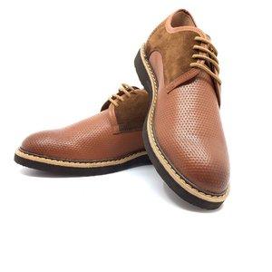 Pantofi casual barbati din piele naturala, Leofex - 938 Cognac box